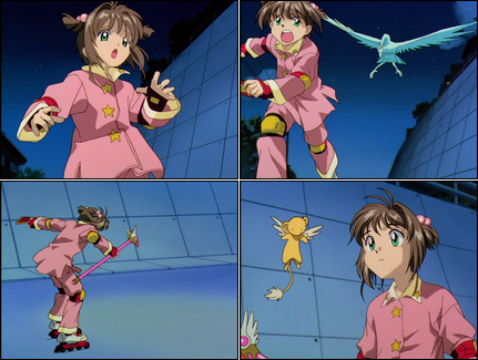 Collage of Cardcaptor Sakura screenshots.