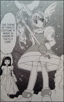 Collage of Cardcaptor Sakura manga images.