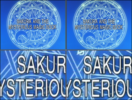 Bootleg and US licensed DVD episode title screen comparison.