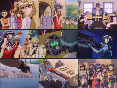 Collage of Debutante Detective Corps screenshots.