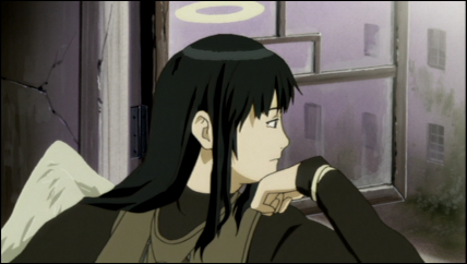 Reki looks out Rakka's window.