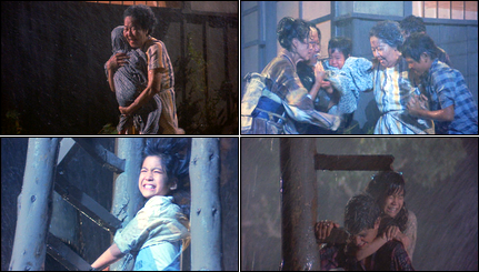 Collage of The Karate Kid II screenshots.