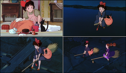 Collage of Kiki's Delivery Service screenshots.