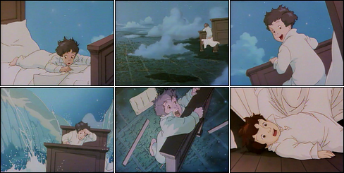 Collage of Little Nemo film pilot scenes.