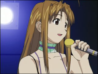 Naru singing as an idol.