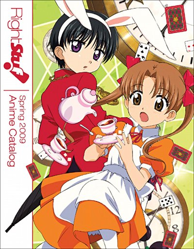 Cover artwork to Right Stuf!'s Spring 2009 anime catalog.