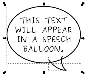 Inkscape Web Comic Tutorial: The Speech Balloon « The Pink Sylphide